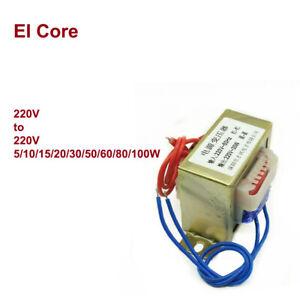 220V to 220V 5/10/15/20/30/50/60/80/100W EI Core AC Power Transformer Isolation