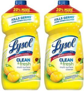 Lysol Clean & Fresh Multi-Surface Clener Lemon & Sunflower scent 48 oz - 2 Pack