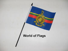 "ROYAL MARINES SMALL HAND WAVING FLAG 6"" x 4"" British RM Marine Table Display"