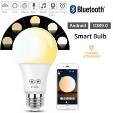 E27 Smart Light Bulbs Bluetooth Wireless Dimmable APP Remote Control LED Lamp UK