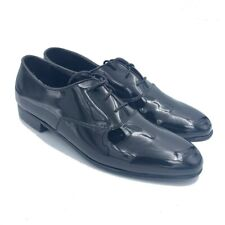 Frederico Leone Mens Oxfords Black Almond Toe Lace Up Low Top Dress Shoes 13 M