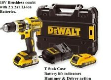 DEWALT DCD795D2  18v XR Brushless Hammer Drill Driver 2 x 2.0Ah Li-Ion Kit