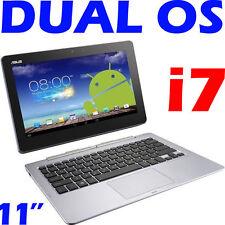 """ASUS Trio Tx201la 11.6"""" I7-4500u 1tb 3-in-1 Notebook Tablet Desktop Window Andro"""