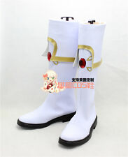 Dragon Nest Pastor White Long Halloween Cosplay Shoes Boots X002