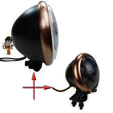 Bates Style Motorradscheinwerfer und Rücklicht mit Kupferring Copper Headlight