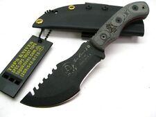 TOPS Black Micarta Tom Brown MINI TRACKER Fixed Survival Knife + Sheath! TBT-040