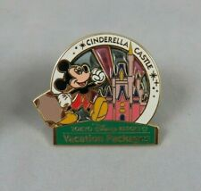 Disney Tokyo Disneyland Pin Vacation Packages Mickey Mouse at Cinderella Castle