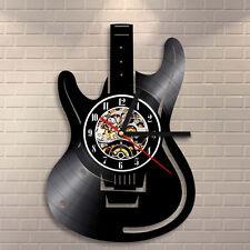"""12"""" Modern Wall Clock 3D Vinyl LP Record Guitar Design Art Home Decor Great Gift"""