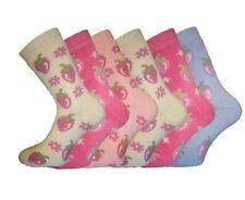 Ladies SHORT Strawberry Design Winter Thermal boot shoe Socks 4-7 6pk