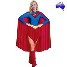 Adult Women Sexy Superwoman Supergirl Superhero Halloween Fancy Dress Costume