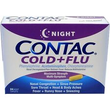 Contac Cold+Flu Relief Night Caplets 24 Count