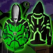 Ben 10 Hoodies 3D Print Sweatshirts Cosplay Hooded Casual Jacket Zipper Coat Top