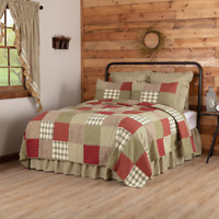 VHC Prairie Winds Patchwork Quilt (choose size & accessories)  Country Bedding