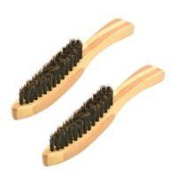 2Pcs Brosse à Barbe pour Moustache Rasage Peigne Massage Du Visage des Homm U4M4