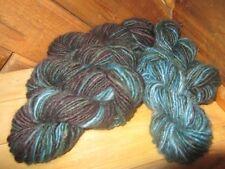 Handspun Merino Wool, 3/4 pounds +, Midnight Blues, by Mountain JulieRea Designs