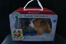 American Girl Meatloaf Travel Carrier Set for Doll NIB Puppy Pet Bulldog Book