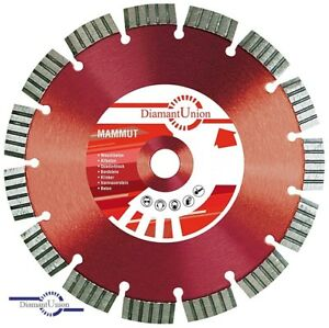 Diamant Trennscheibe Mammut Beton Granit 350/20 mm Turbo Segment Laser 15 mm