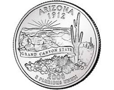 2008 - ARIZONA  State Quarter / Philadelphia Mint / BRILLIANT UNCIRCULATED