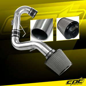 For 11-16 Scion tC 2.5L 4cyl Polish Cold Air Intake + Stainless Steel Air Filter