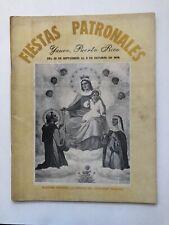 Programa Fiestas Patronales Virgen Del Rosario Yauco Puerto Rico 1978 Fotos