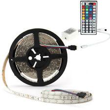 Waterproof 5M RGB 300leds 3528 LED Light Strip 12V + 44keys IR Remote Controller