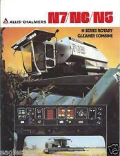 Farm Combine Brochure - Allis-Chalmers - N7 N6 N5 - Gleaner - c1980  (F3510)