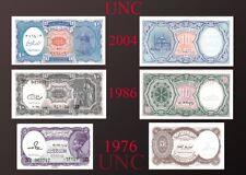 EGYPT 3 PAPER MONEY RARE (UNC) EGYPTIAN NOTES COLLECTIAN SET 2004,1986,1976
