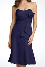 NWOT navy JS Boutique Strapless Satin Dress with Sash size 10