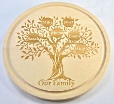 Personalised Wooden Family Tree Cheeseboard | Engraved With Names | Wood Cheese