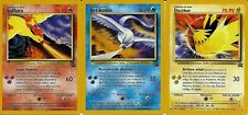 LOT CARTES POKEMON LEGENDAIRES SULFURA-ARTIKODIN-ELECTHOR PROMO 21/23 FR NEUVES
