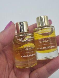 2x Aromatherapy AssociatesRevive Morning Bath & Shower Oil 9ml Each