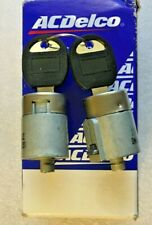 AC Delco Set of 2 Door Lock Cylinders New for Chevy C1500 K1500 D528A