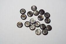 10pc 12mm GRIGIO CON Pearl SHELL effetto Camicia Abito cardigan knitwear pulsante 3806