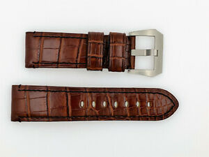 PANERAI NEW Brown Leather Watch Strap 24mm 24/22 (SO265)