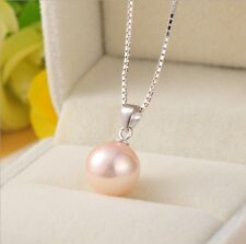 925 Natural White pink Silver Black Pearl Pendant Necklace Fashion Jewelry