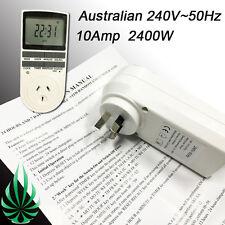 Heavy Duty Digital Timer Australian Appliance 10 On/Off Per Day 2400W 24hour