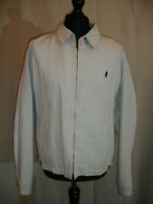 GENUINE Marlboro Classics White Harrington 'linen look' style jacket XL