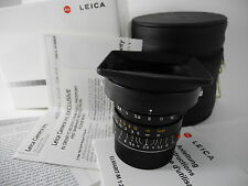 LEICA 24/2.8 ASPH LOOKS UNUSED PERFECT BOXED WITH CARDS CASE AND SHADE PERFECT
