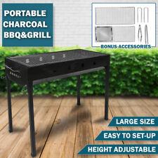 Large Portable Outdoor BBQ Barbecue Grill Set Charcoal Kebab Picnic Camping Sets