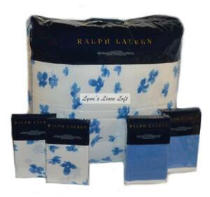 RALPH LAUREN Georgica Maylen FULL/ QUEEN COMFORTER SET 5P BRANFORD BLUE $985