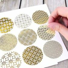 Shiny Gold Design Seals Paper Sticker Flower Type Sealing Stickers