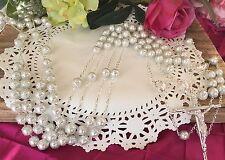 WHITE CRYSTAL PEARLS COLOR WEDDING LASSO/LAZO DE BODA EN PERLAS BLANCAS/SILVER