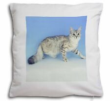 Siberian Silver Cat Soft Velvet Feel Cushion Cover With Inner Pillow, AC-23-CPW