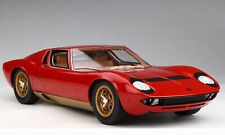 Lamborghini - Miura -P400S - 1/12 scale - Red/Gold accents