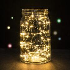 Micro LED Draht Lichterkette mit 30 LED´s, warmweiß, Batteriebetrieb, Tischdeko