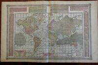 World Map Mercator Projection World Races Religions Population 1892 Tunison map