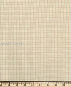 Dunroven House H-853 Homespun Wheat ~ Cream Small Plaid Fabric ~ You Pick
