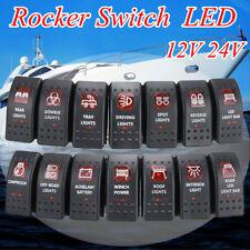 12V 24v 20A Car boat Bar ARB 5P Push Rocker Toggle Switch LED Light Waterproof