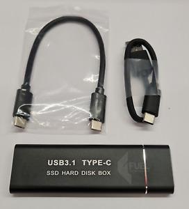 256Gbps M.2 NVME PCIe to USB 3.1 GEN2 M Key Mobile SSD