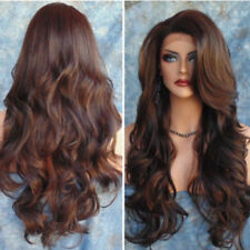 70cm Fashion Women Long Hair Full Wig Natural Curly Wavy Straight Brown Wigs